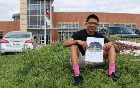 Senior Matthew Magallanes wins yearbook cover contest