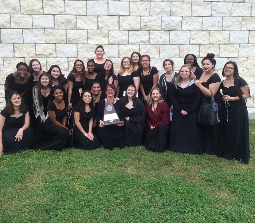At+her+final+time+at+UIL+district%2C+both+boys+and+girls+choirs+won+sweepstakes.+She+has+been+teaching+at+Judson+High+School+for+18+years.