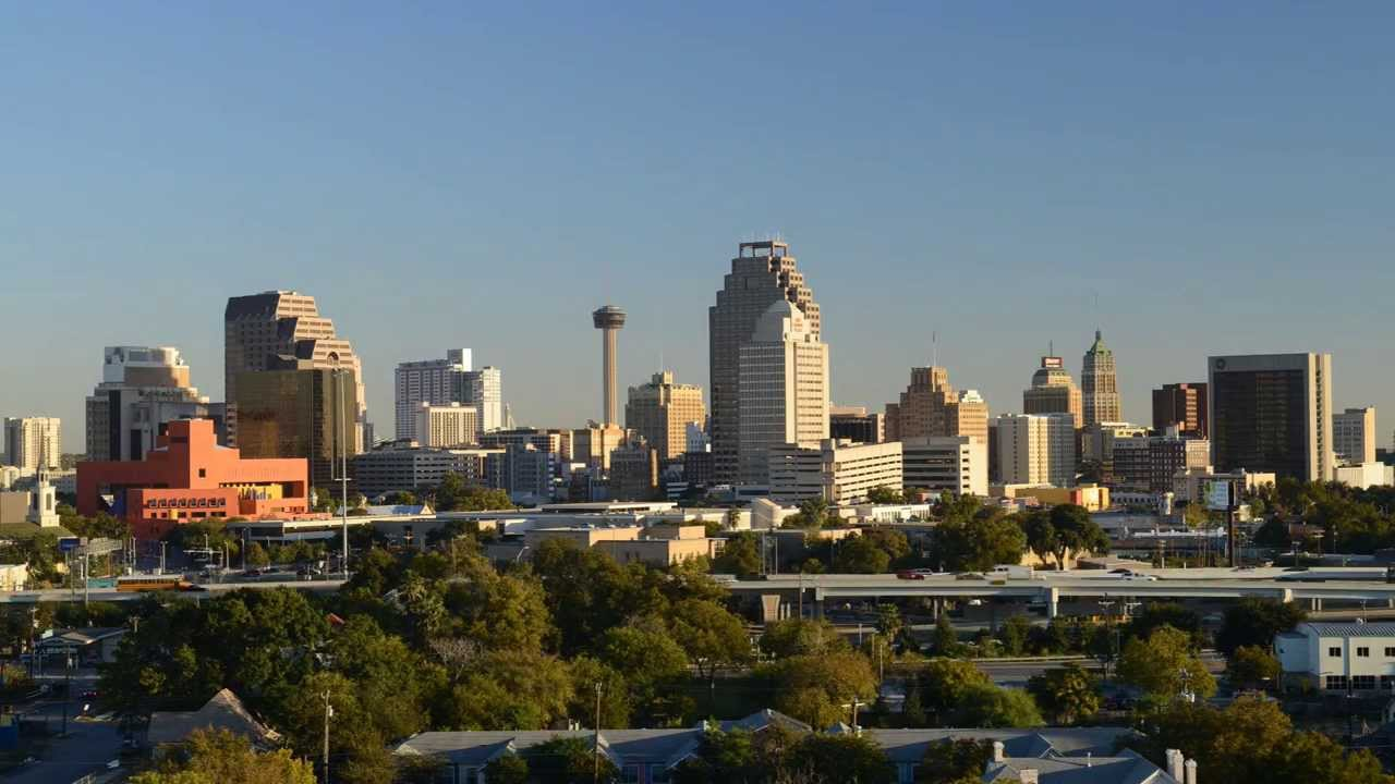 The new location looks over the San Antonio skyline.