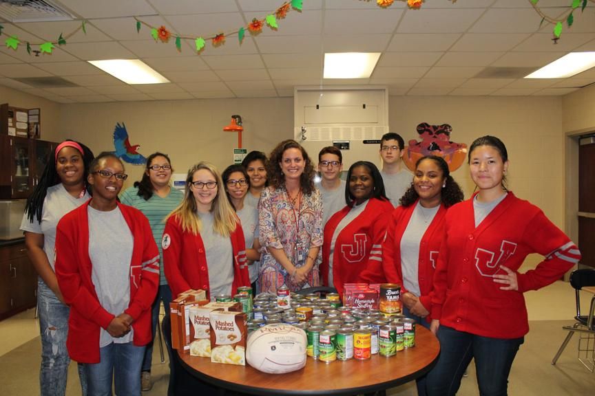 Science club puts together thanksgiving baskets for needy families