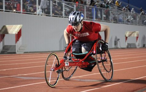Sophomore Derek Funk doesn't let his disability effect his love for track