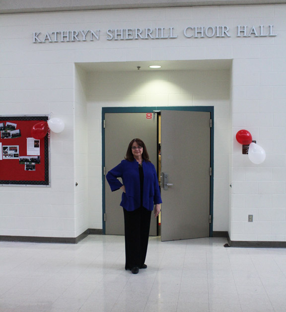 Choir hall named after former long time director Kathryn Sherrill