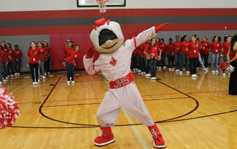 Rocket Man strikes a pose during the pep rally on September 12th. Hopefully, we can continue the tradition of not really knowing who Rocket Man is.