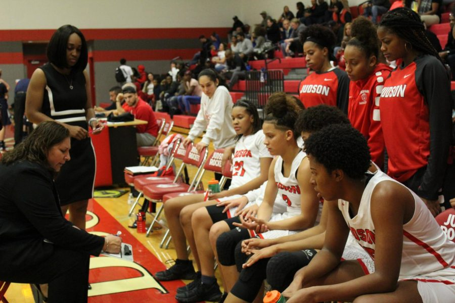 Lady Rockets win first district game