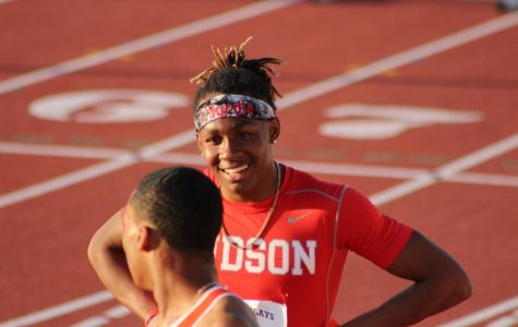 Senior Tre'Bien Gilbert shines on the track