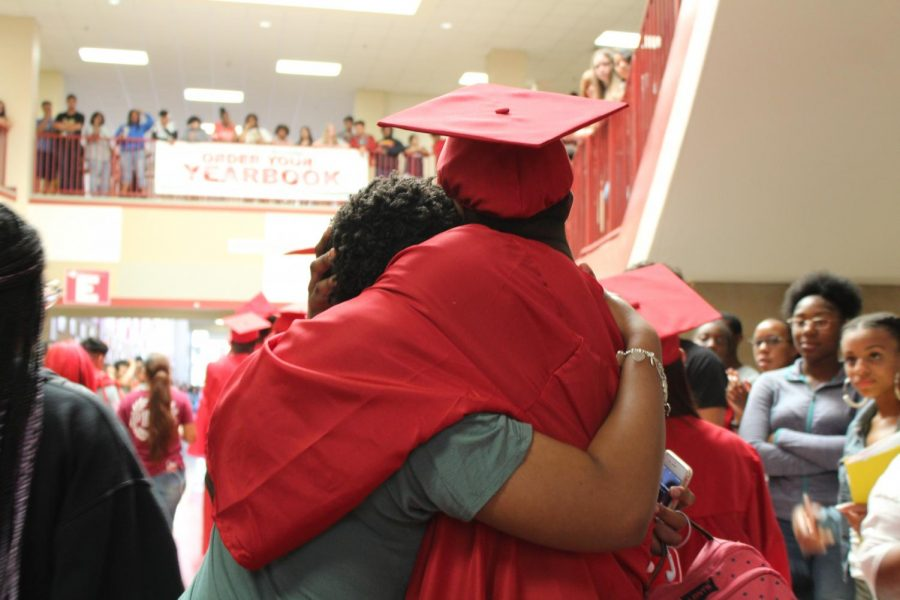 Seniors walk the halls for the last time