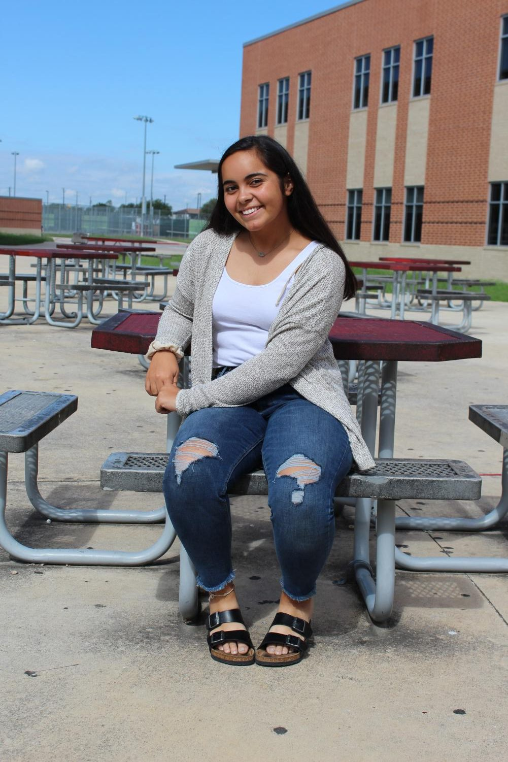 Senior Tejas Fruean shares a smile after being awarded Class President. Fruean also holds the leadership positions of Band President, Drum Major, and NHS Historian.