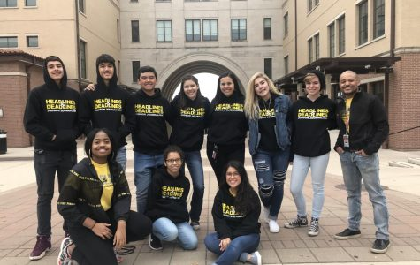 The Fuel newspaper staff visits Texas State University