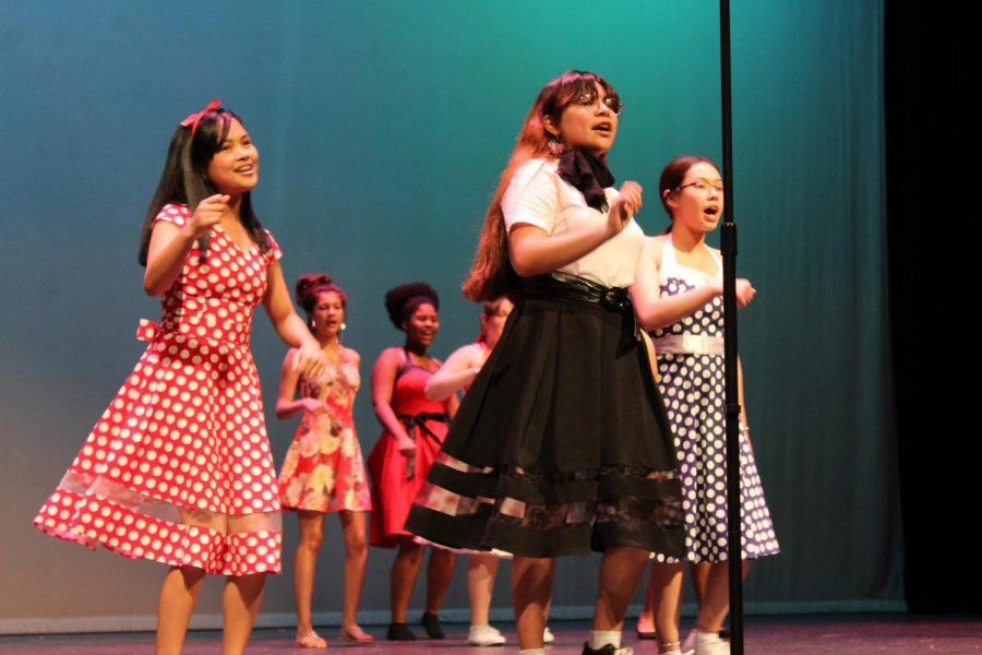 Ladies A Capella perform during the Judson choir's annual Rocket Revue. The theme for this years show was