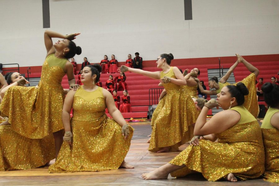 Varsity+Color+Guard+performing+their+show+at+Judson+Jubilee+in+the+gym.+The+show+is+a+annual+performance+done+by+the+color+guards+and+the+dance+teams.