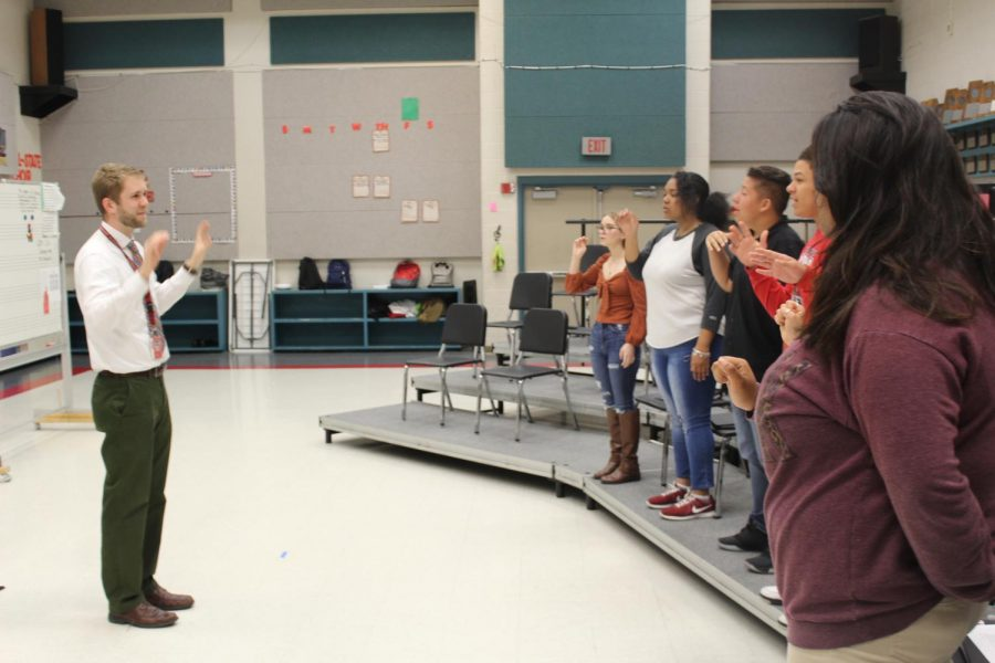 Mr. David Short works with Cantante, the highest level of choir at Judson. Short is also the department head for fine arts.