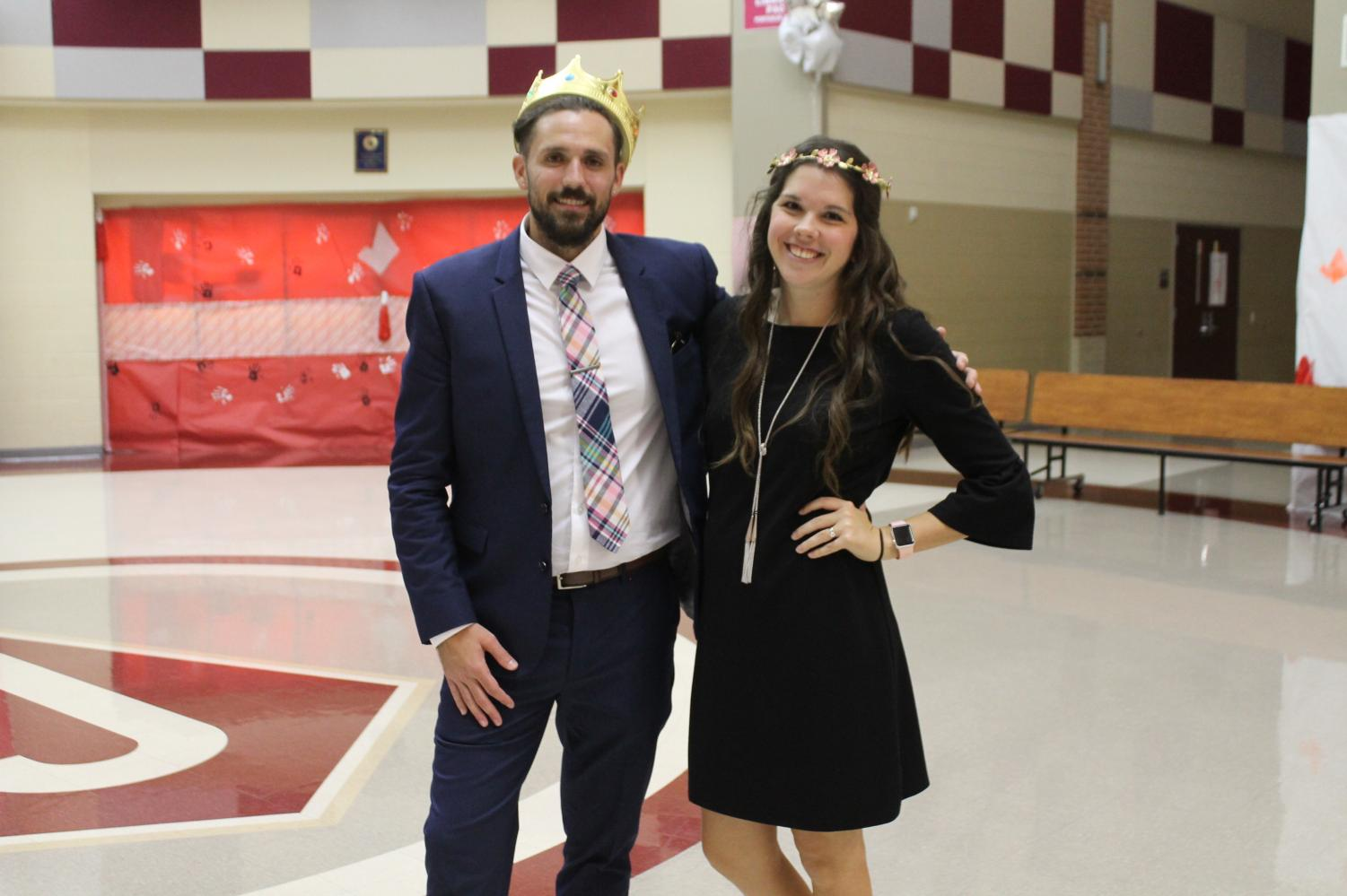 Mrs. Mallory Tesch and Mr. Dylan Stephens posed together for their first picture as royalty.