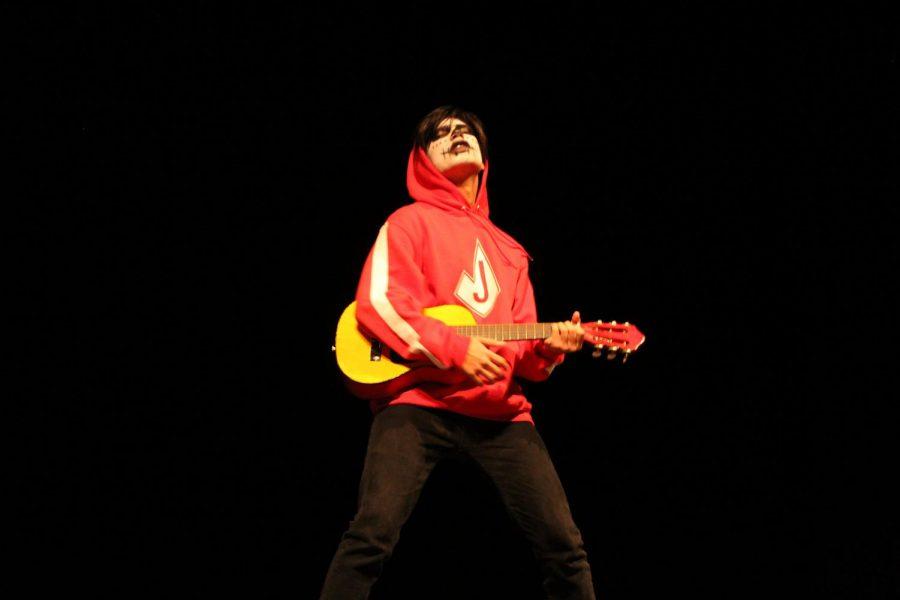 Freshman Maurillo Cruz sings