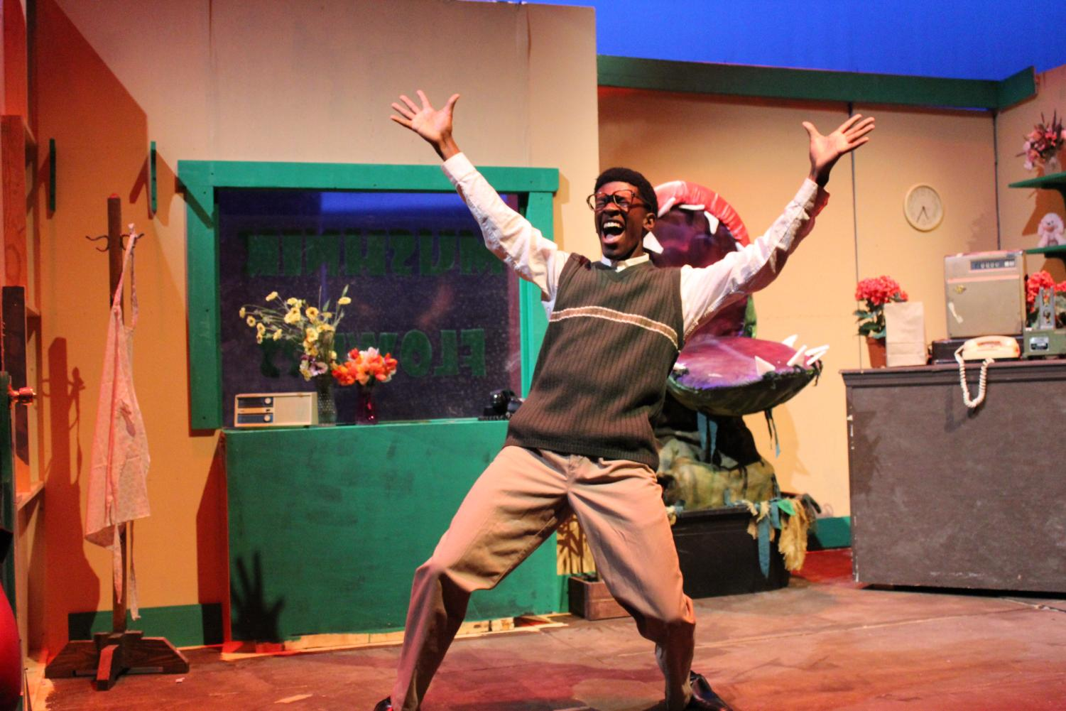 Junior Joshuah Mayo plays Seymour Krelborn.