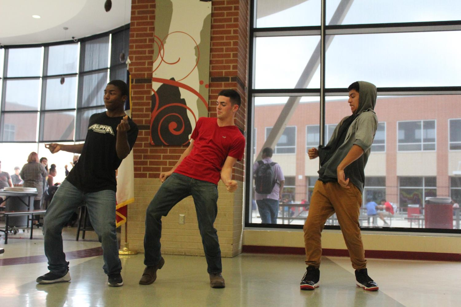 Rodriguez, along with his friends Isaiah Dugar and Hunter Erwin, randomly dance in the cafeteria. All three of them have shown a love for dancing, no matter where they are at.