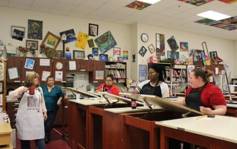 Art department host first Painting Without A Twist