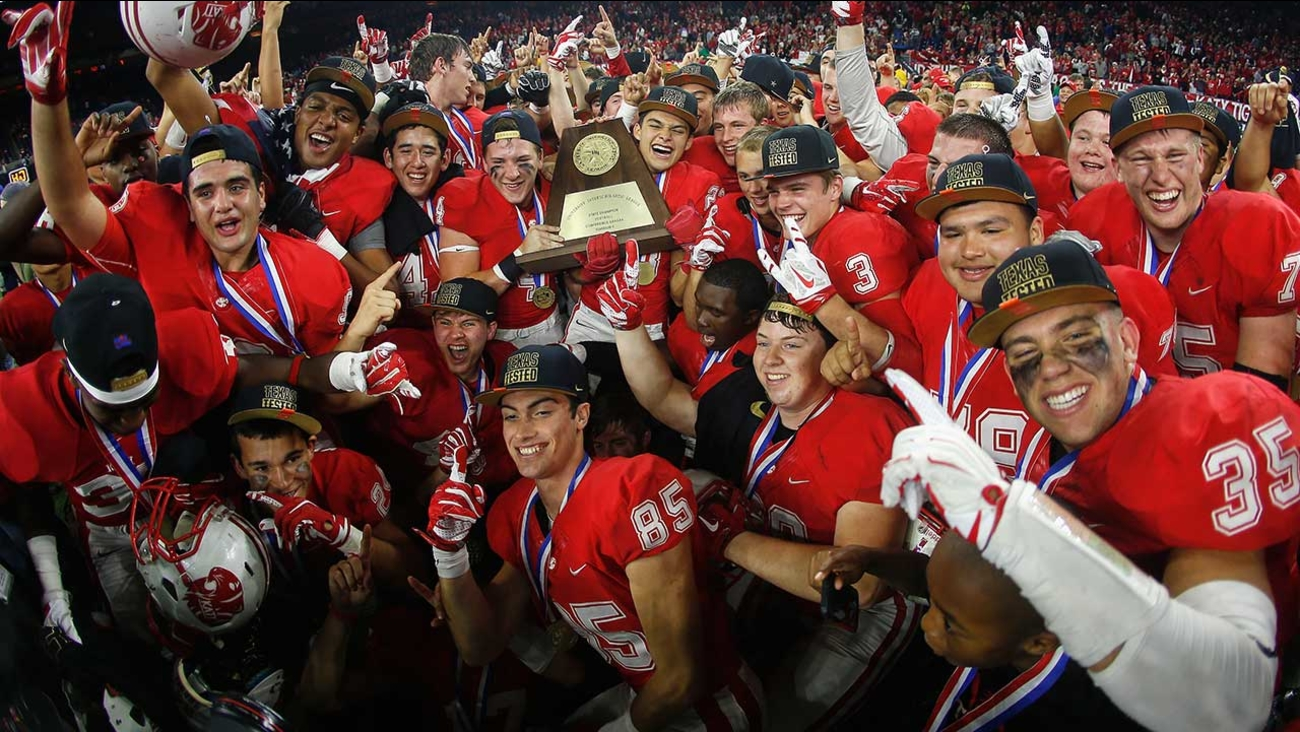 The Katy Tigers didn't just claim the Texas High School title over the weekend. They were named national champs in the MaxPreps Xcellent 25 national football rankings.  Katy went into the championship weekend as the third-ranked team nationally, but their dominant 34-7 win over previously unbeaten Lake Travis vaulted them to the top spot in the country.