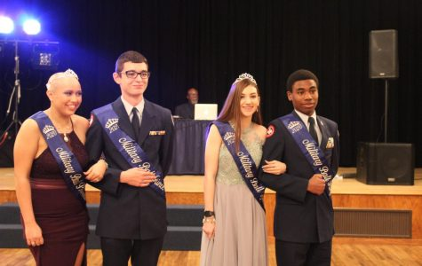 Seniors Dallas Jones and Star Clinton win Military Ball King and Queen
