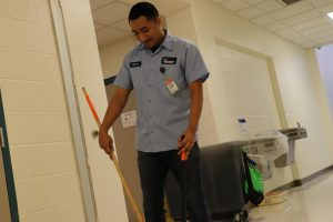 Custodial staff is the backbone of the campus
