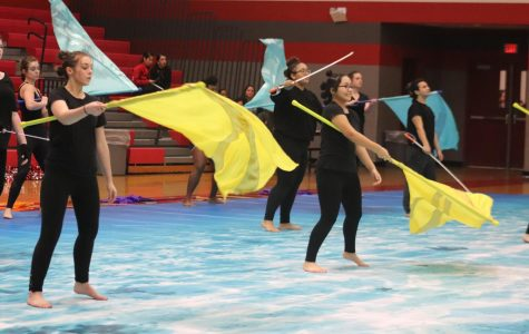 The color guard, and the dance teams, performed at the annual Jubilee event.