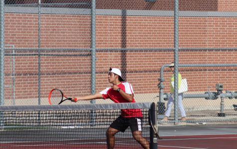 Seniors Maximiliano Reyes takes a shot at the ball during his game against Clemens. The Rockets started their fall season against the Buffaloes earlier this week.