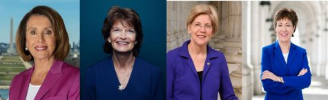 Nancy Pelosi, Lisa Murkowski, Elizabeth Warren, and Susan Collins