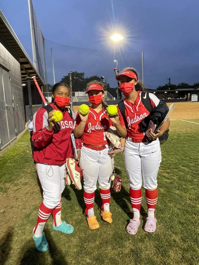 At the end of every game, the tradition is to spotlight Judson Softball