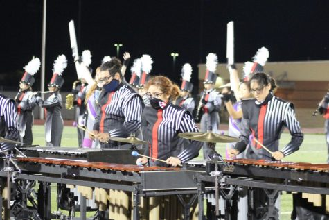 Senior Alisha Pagan-Velez is a member of the pit on the Judson Band. She has been a member of the band for all four years.